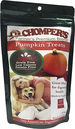 Chompers Pumpkin And Chickpea Dog Treats