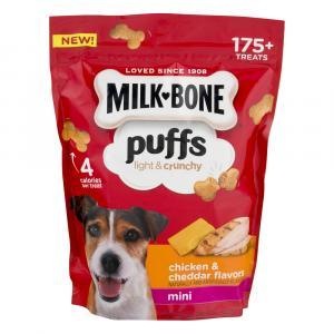 Milk Bone Puffs Chicken & Cheddar Minis Dog Treats