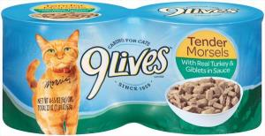 9lives Tender Morsels With Turkey And Giblet In Sauce