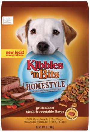 Kibbles 'n Bits Homestyle Beef & Vegetables Dry Dog Food