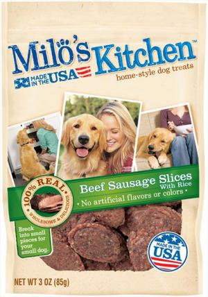 Milo's Kitchen Sausage Slices Home-style Dog Treats