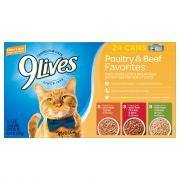 9Lives Variety Pack Poultry & Beef Cat Food