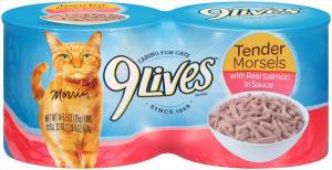 9lives Tender Morsels With Salmon In Sauce
