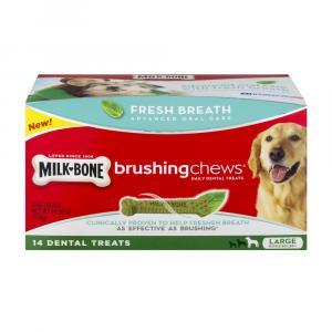 Milk-bone Fresh Breath Brushing Chews - Large Dogs