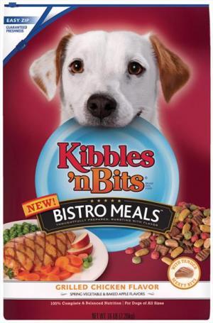 Kibbles 'n Bits Bistro Meals Grilled Chicken Flavor