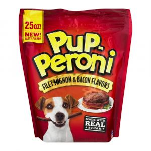 Pup-Peroni Filet Mignon & Bacon Flavor Dog Snacks