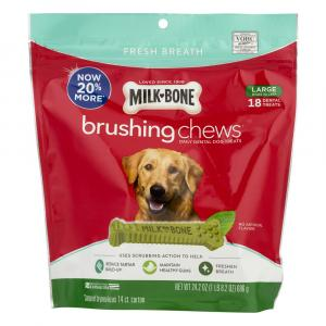 Milk-Bone Brushing Chews Large Dog Treats