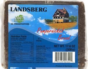 Landsberg Pumpernickel Bread