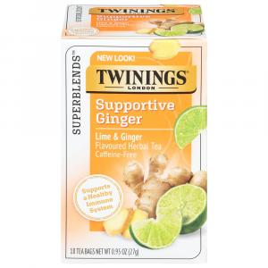 Twinings Support White Hibiscus Lime & Ginger Herbal Tea