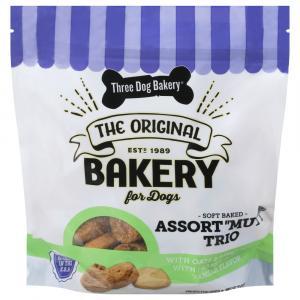 Three Dog Bakery Assort-Mutt Trio Soft Baked Treats