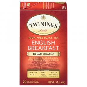 Twinings Decaf English Breakfast Tea Bags
