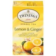 Twinings Lemon & Ginger Herbal Caffeine Free Tea Bags