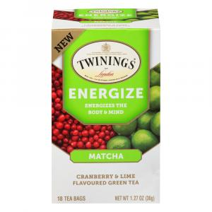 Twinings Energize Matcha Cranberry & Lime Green Tea