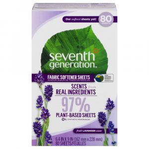 Seventh Generation Free & Clear Fabric Softener Sheets