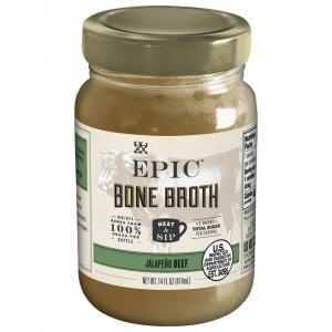 Epic Artisanal Bone Broth Beef Jalapeno Sea Salt