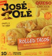 Jose Ole Rolled Tacos Queso Chicken Nacho