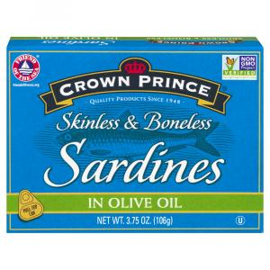Crown Prince Skinless Boneless Sardines With Olive Oil