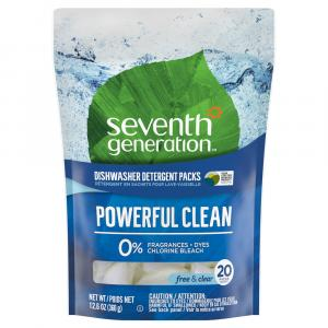 Seventh Generation Dishwasher Packs Free & Clear