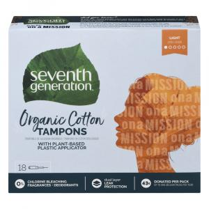 Seventh Generation Organic Cotton Light Tampons