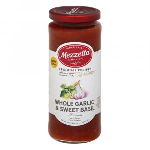 Mezzetta Whole Garlic & Sweet Basil Pasta Sauce