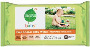 Seventh Generation Baby Wipes Travel Pack