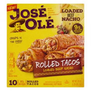 Jose Ole Rolled Tacos Loaded Beef Nacho