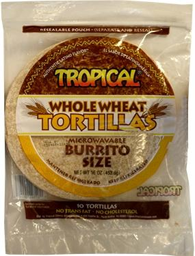 Tropical Whole Wheat Tortillas