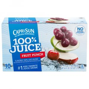 Capri Sun Fruit Punch 100% Juice Blend