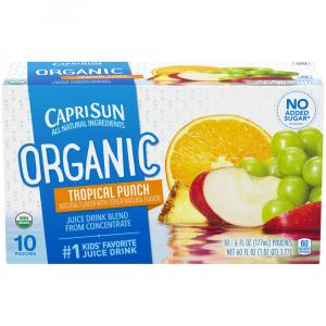 Capri Sun Organic Tropical Punch Juice Drink