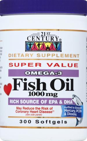 21st Century Fish Oil 1000 Mg Softgels