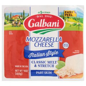 Galbani Part Skim All Natural Mozzarella Cheese Block