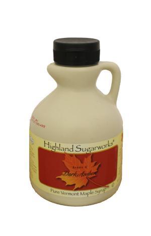 Highland Sugarworks Vermont Dark Amber Maple Syrup Jug