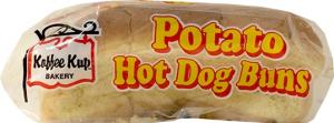 Koffee Kup Potato Hot Dog Rolls