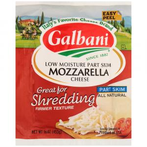 Galbani Part Skim Low Moisture Mozzarella Cheese Block