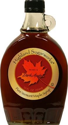 Highland Sugarworks Vermont Dark Amber Maple Syrup Bottle