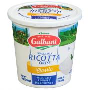 Galbani Whole Milk Classic Ricotta Cheese