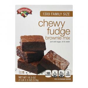 Hannaford Chewy Fudge Brownie Mix