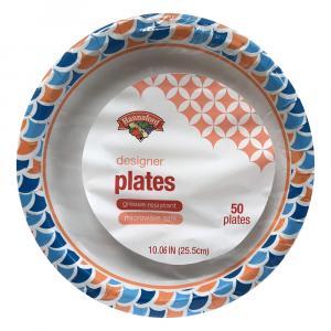 """Hannaford 10.06"""" Designer Plates"""