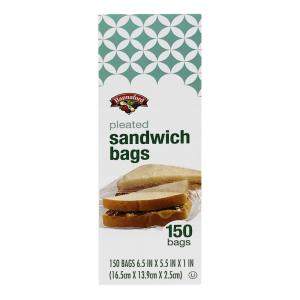 Hannaford Pleated Sandwich Bags