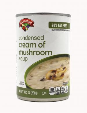 Hannaford 98% Fat Free Condensed Cream of Mushroom Soup
