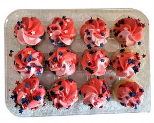 Patriotic Mini Gold Cupcake