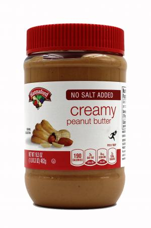 Hannaford No Salt Added Creamy Peanut Butter