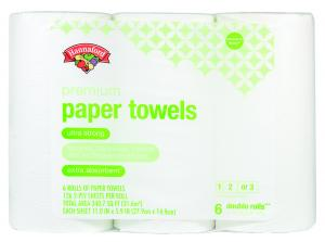 Hannaford Premium Paper Towels 6 Cas Double Rolls