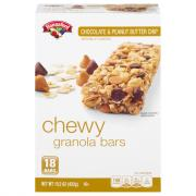 Hannaford Chocolate & Peanut Butter Chewy Granola Bars
