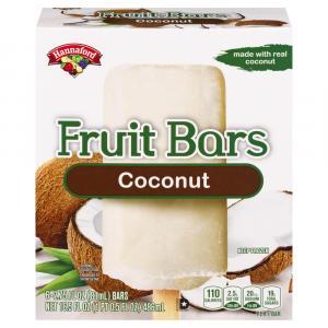 Hannaford Frozen Fruit Bars Coconut