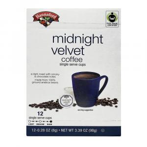 Hannaford Midnight Velvet Coffee Single Serving Cup