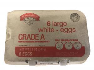 Hannaford Large White Eggs