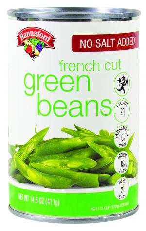 Hannaford No Salt Added French Cut Green Beans