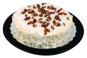 "Hannaford 8"" Italian Creme Cake with Cream Cheese Icing"