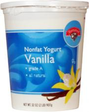 Hannaford Light Nonfat Vanilla Yogurt